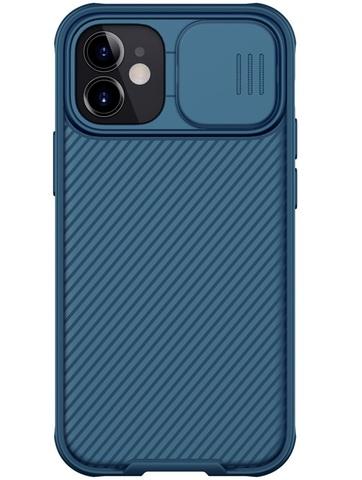 Чехол синего цвета на iPhone 12 mini от Nillkin CamShield Pro Case с защитной шторкой для задней камеры