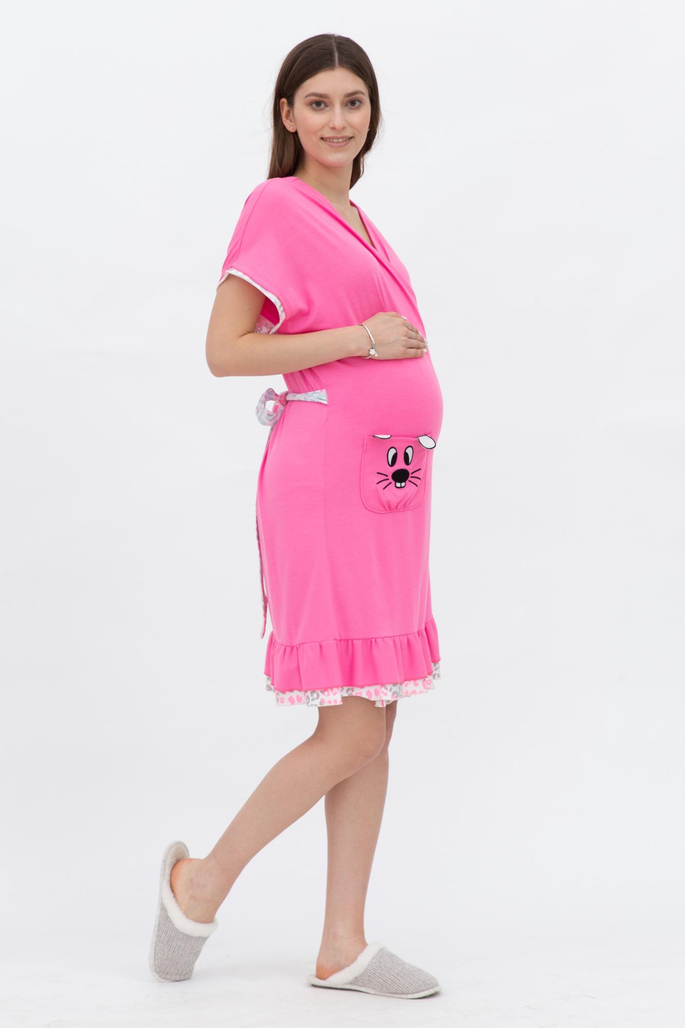 Халат для беременных 09714 розовый