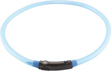 Ошейники Светящийся шнурок на шею, Hunter LED Yukon 20-70 см, голубой 90236.jpg