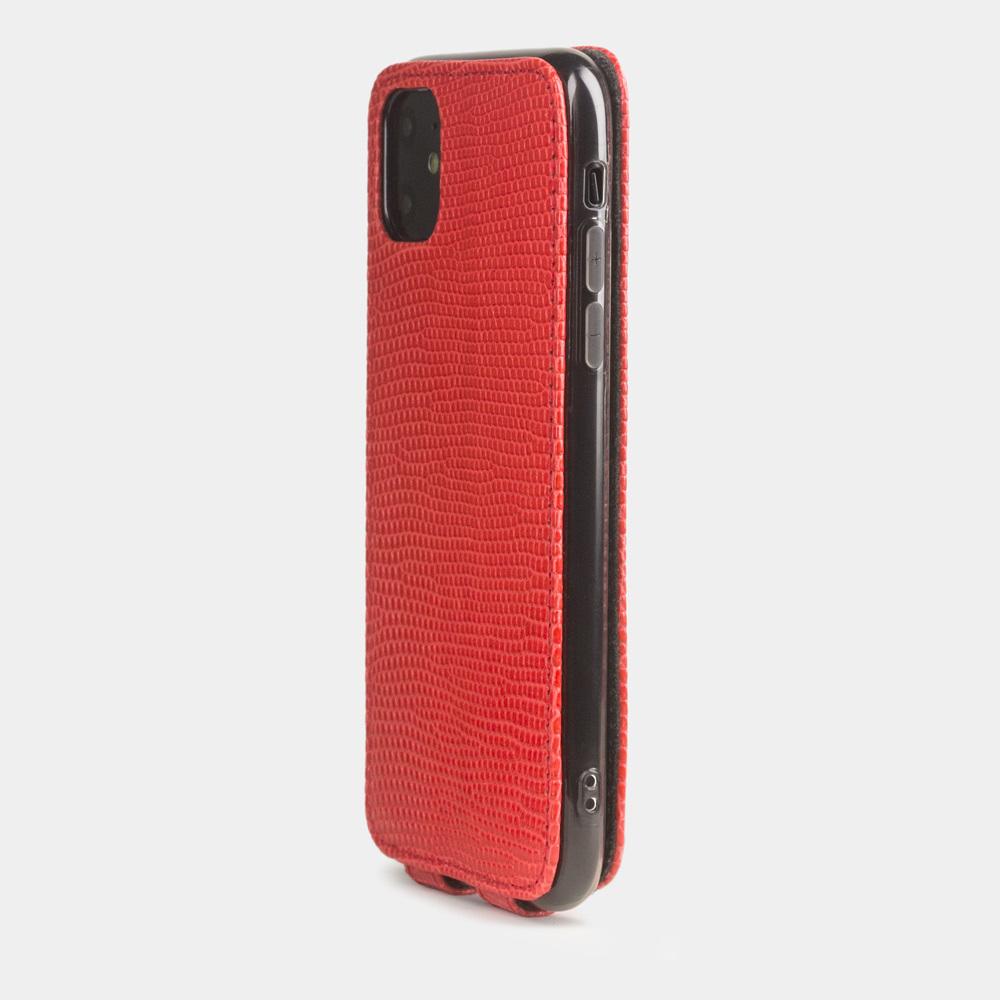 Special order: Чехол для iPhone 11 из натуральной кожи ящерицы, кораллового цвета