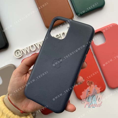 Чехол iPhone 11 Leather Case /midnight blue/