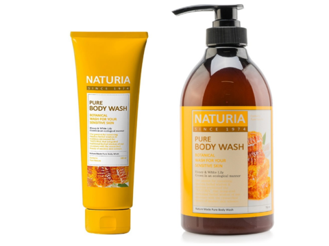 EVAS NATURIA Гель для душа МЕД и ЛИЛИЯ PURE BODY WASH Honey & White Lily