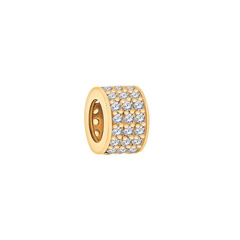 5884- Подвеска -широкое колечко из золота 585 пробы с фианитами
