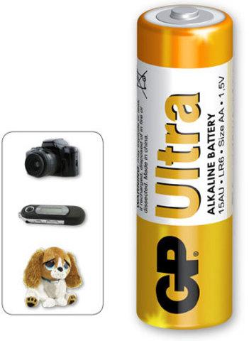 Батарейки GP 15AU-S2 Ultra alkaline LR6, АА, трей 4/96/