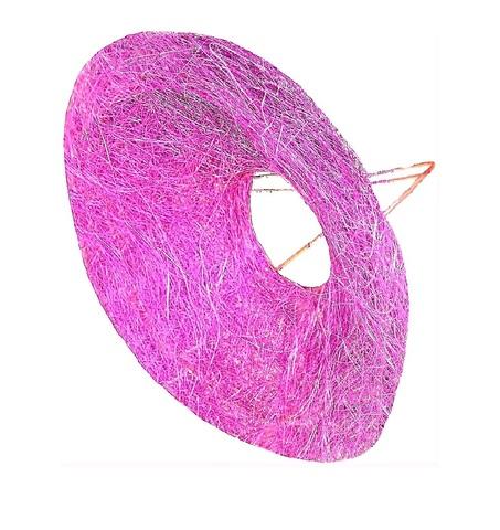 Каркас для букета гладкий (сизаль, диаметр: 30 см) Цвет: фуксия