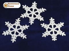 Пластиковый декор Белая снежинка № 2