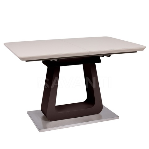 Стол обеденный WIND (120-160) латте матовый/венге