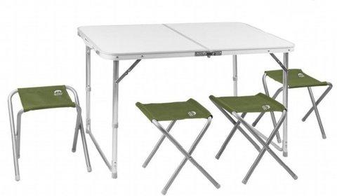 Набор мебели Jungle Camp 95 зеленый (стол+4 стула) 70742