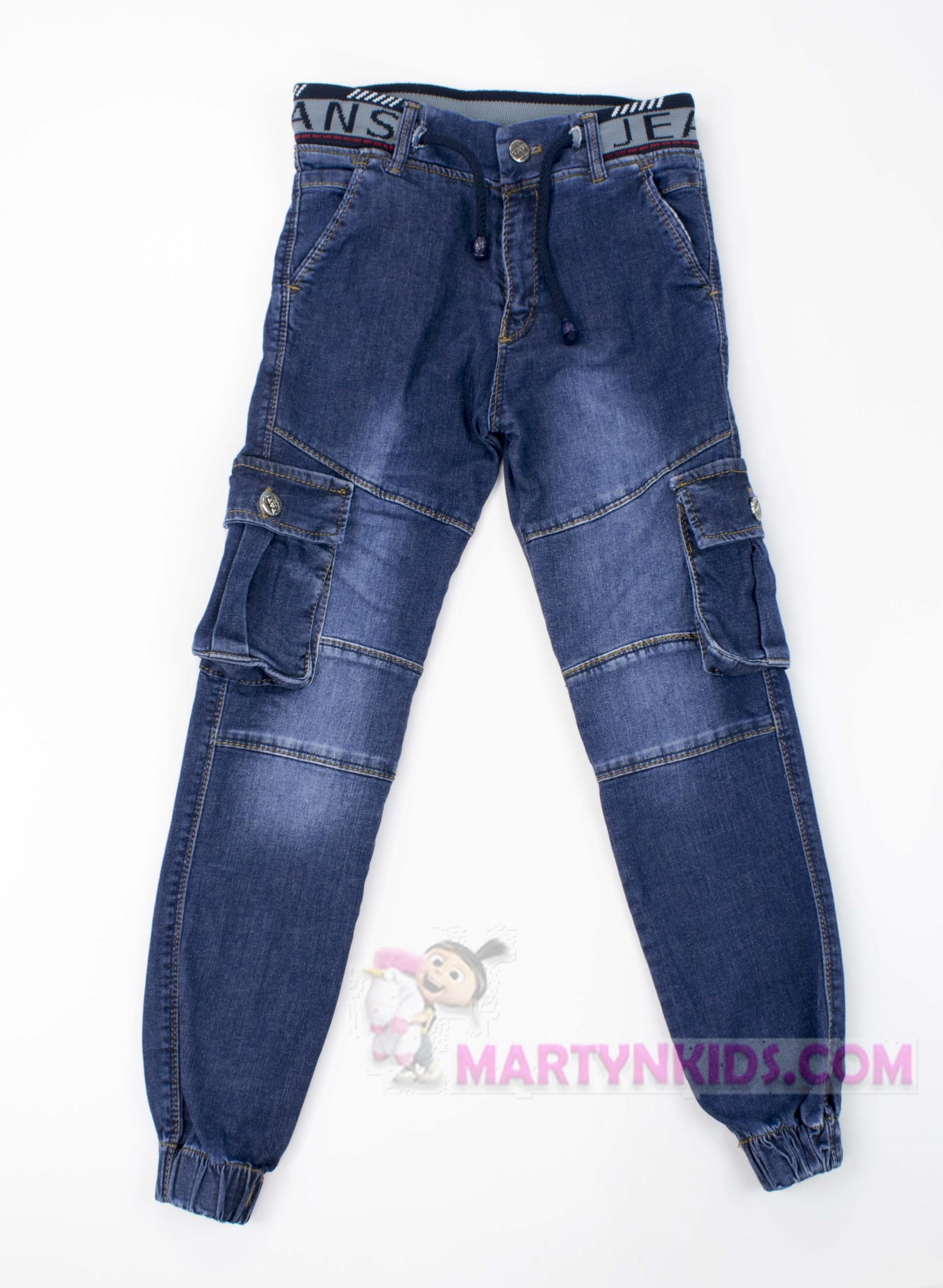 3153 джогеры боковой карман на резинке джинс