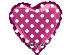 А 18 Сердце, Горошек на фиолетовом, 1 шт.
