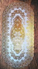 Салфетка декоративная 40 х 83 см овал золото № 1