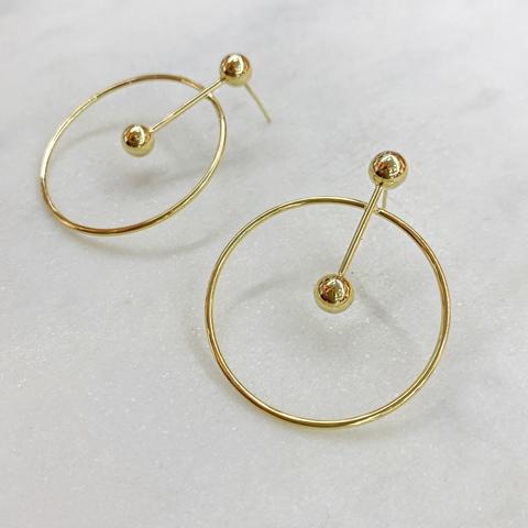 Серьги-кольца (золотистый) ш925
