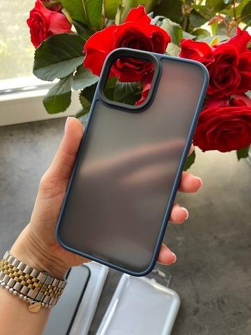 Чехол iPhone 13 Pro Max Rock Guard Series matte /blue/