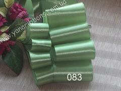 Лента атласная однотонная зеленая - 083.