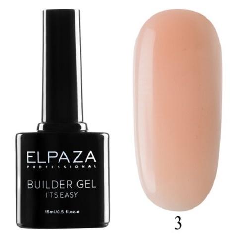 Моделирующий гель Builder Gel it's easy Elpaza, 15ml - 3