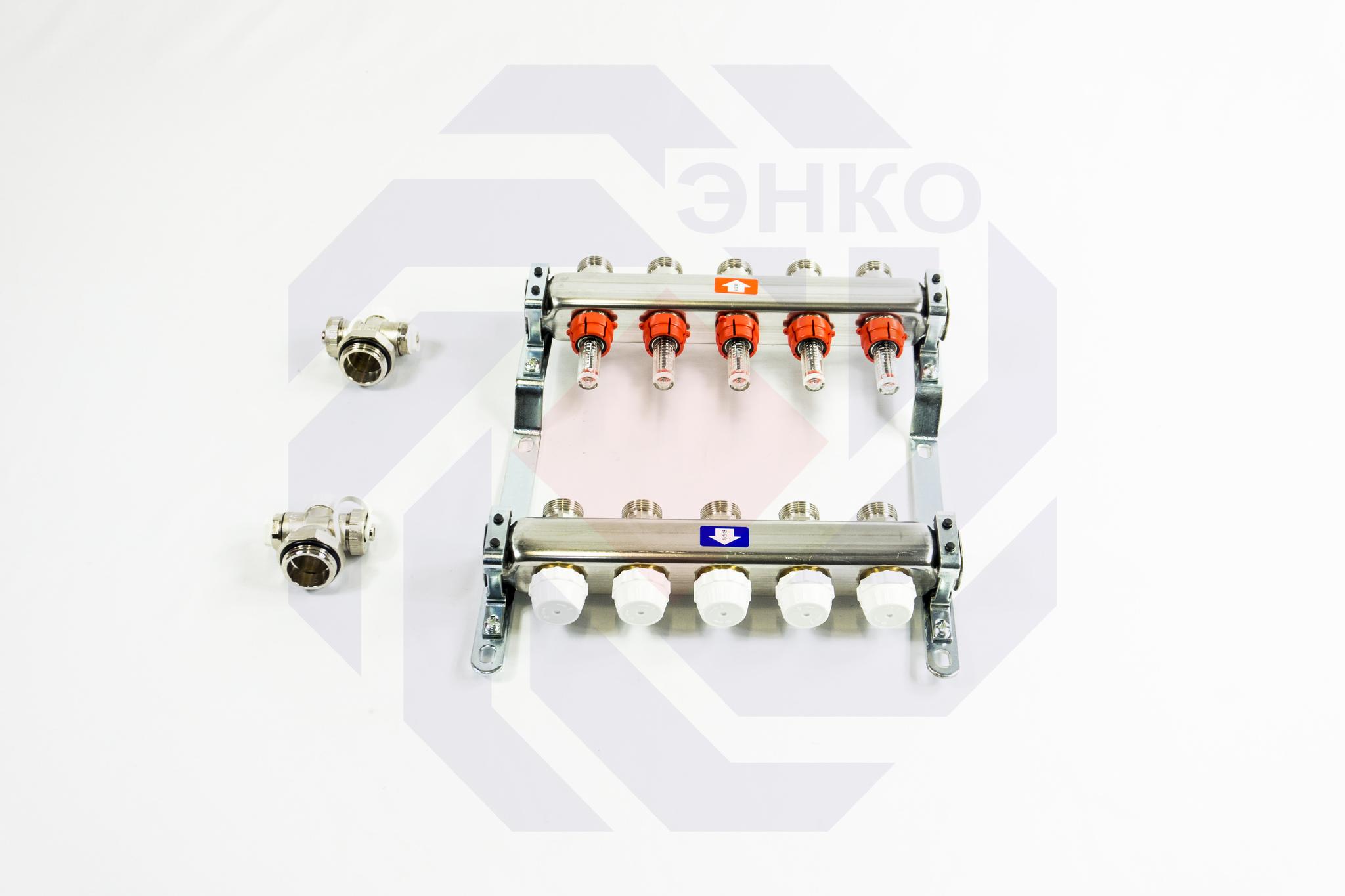 Комплект коллекторов с расходомерами ITAP 918C 5 контуров