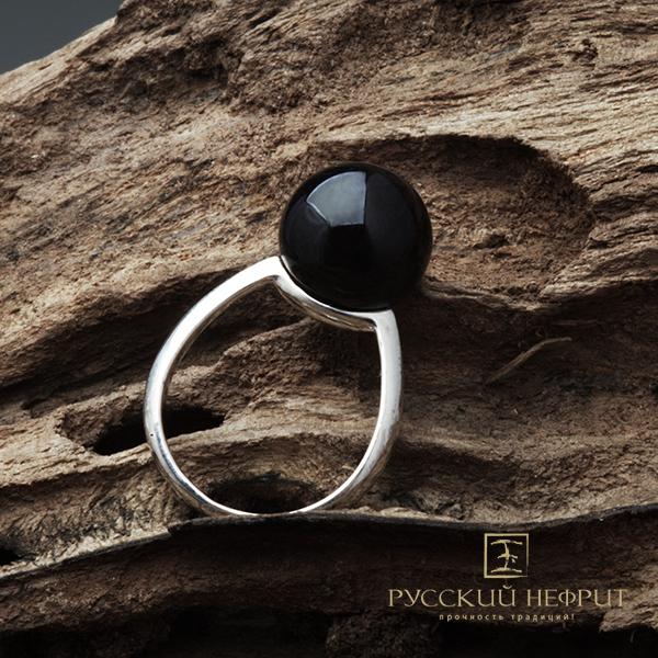 SALE Кольцо с чёрным нефритом. Perlus. kolso_perlus_chern.jpg