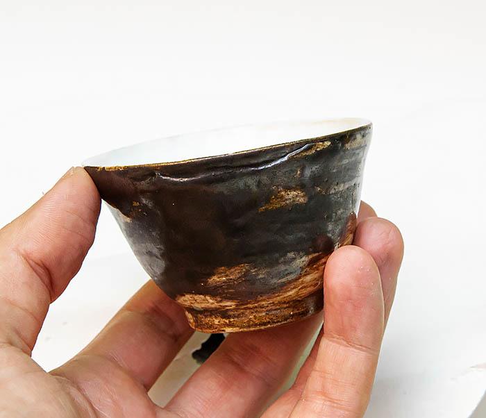 CUP105 Глиняная пиала для чая ручной работы (70 мл) фото 05