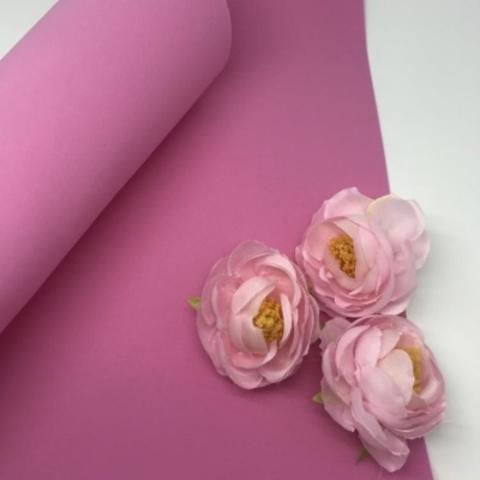 Шелковый фоамиран 25*25 см. Розовый 04