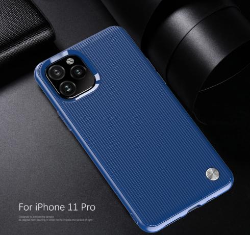 Чехол iPhone 11 Pro цвет Blue (синий), серия Bevel, Caseport