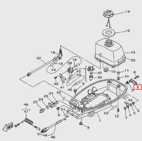 Ручка фиксации капота для лодочного мотора T5 Sea-PRO (7-2)