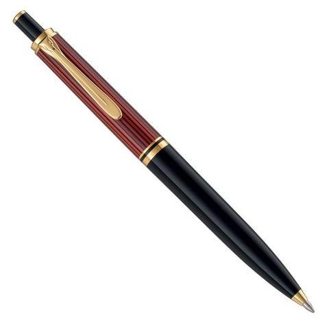 Ручка шариковая Pelikan Souveraen K 400 (PL904995) черный/красный M черные чернила подар.кор.