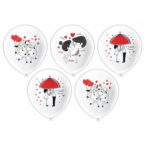 Воздушные шары романтические с гелием