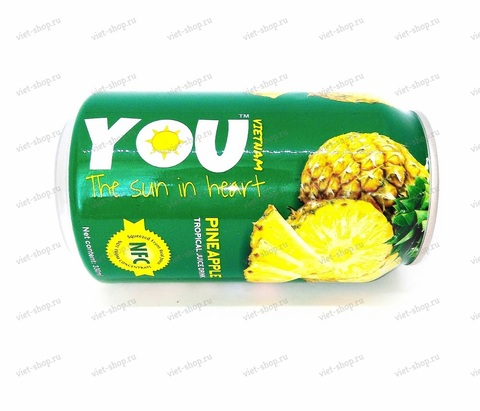Вьетнамский напиток с соком ананаса, You Vietnam, 330 мл