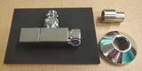 Комплект вентилей угловых Quadro 1/2*3/4 с круглыми отражателями