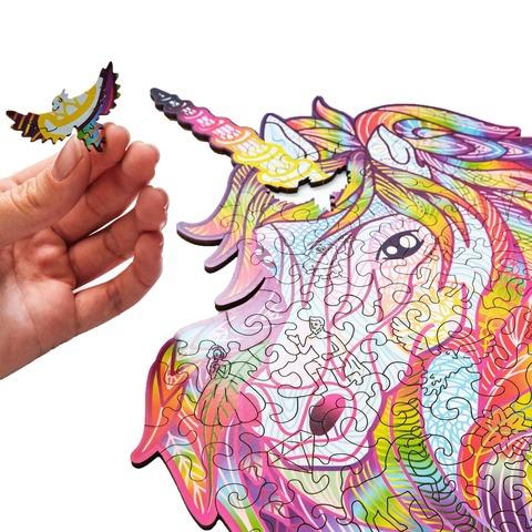 Сверкающий Единорог от Wood Trick - сборные пазлы причудливой формы, это картины, которые вы собираете сами