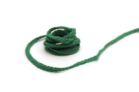 Шнур плетеный, хлопковый,трава