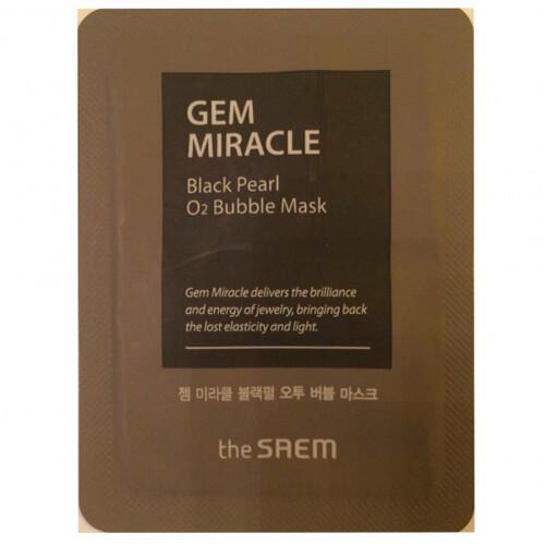 Увлажняющие Маска для лица the SAEM кислородная с экстрактом жемчуга пробник Gem Miracle Black Pearl O2 Bubble Mask-Sample(Pouch) 3мл 1351718272.jpg