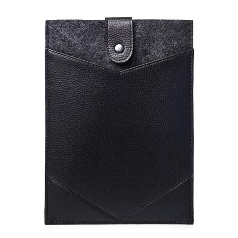 Фетровый чехол-конверт с кнопкой для iPad с экокожей