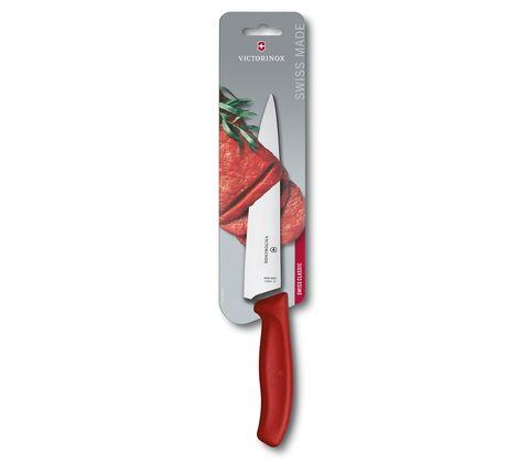 Нож Victorinox разделочный, лезвие 19 см прямое, красный