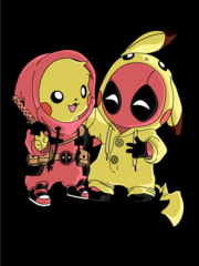 Открытка Deadpool and Pikachu
