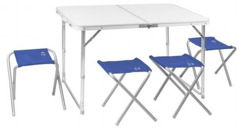 Набор мебели Jungle Camp Event 95 синий (стол+4 стула) 70743