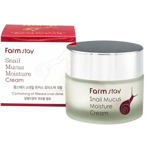 FarmStay Snail Mucus Moisture Cream увлажняющий крем с муцином улитки