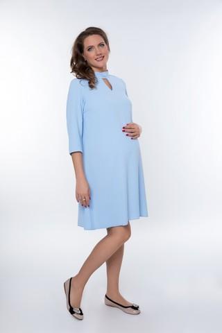 Платье для беременных 08965 голубой
