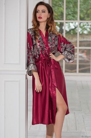 Длинный халат – кимоно Mia-Amore 3149 JUSTIN (70% шелк)