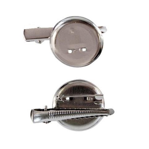 Основа для заколки-броши , 30 мм, под никель