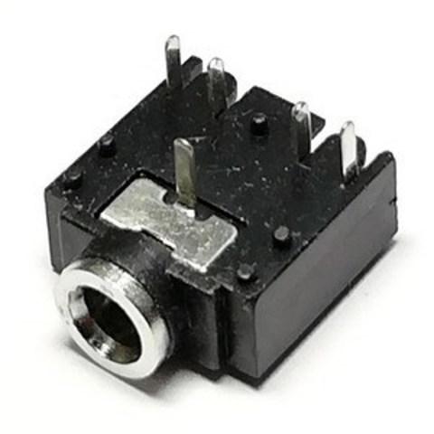 Аудио разъем 3.5 мм на плату, стерео, 5 контактов