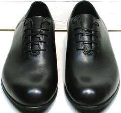 Элитные мужские туфли оксфорд Ikoc 063-1 ClassicBlack.