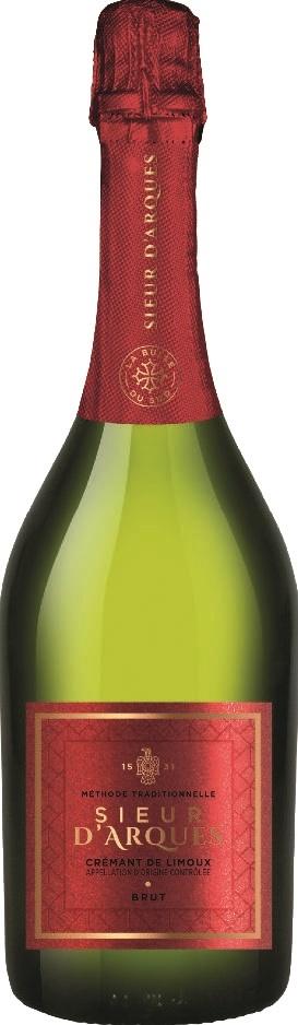 Вино игристое Креман Сьер д'Арк Брют сухое белое з.н.м.п регион Лангедок 0,75л.