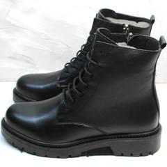 Демисезонные ботинки женские кожа Misss Roy 252-01 Black Leather.
