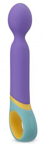 Фиолетовый вибромассажер Base Wand Vibrator - 24 см.