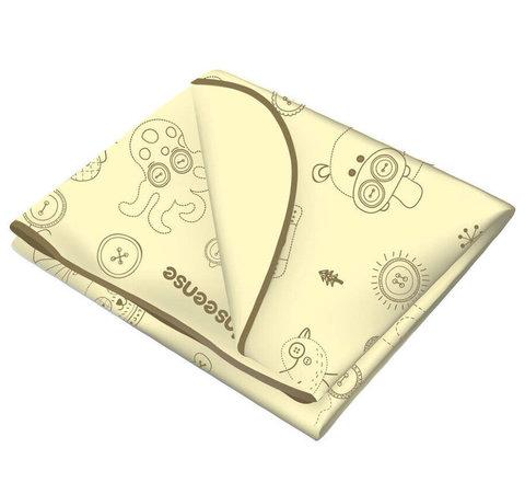 INSEENSE. Клеенка ПВХ с окантовкой 70x100 см, желтая с рисунком