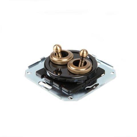Выключатель тумблерныйный четырёх позиционный для внутреннего монтажа проходной. Цвет Чёрный. Salvador. CL51BL