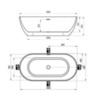 Ванна отдельностоящая 169х80 см Ravak Freedom O XC00100020