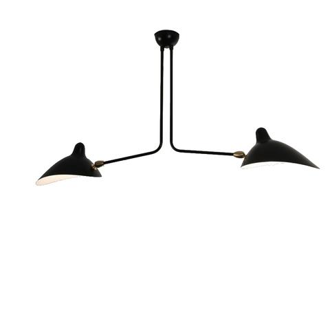 Потолочный светильник  Two Arms by Serge Mouille (черный)