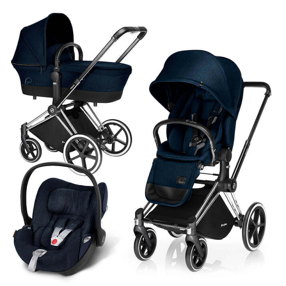Цвета Cybex Priam 3 в 1 Детская коляска Cybex Priam Lux 3 в 1 Midnight Blue шасси Chrome/Trekking cybex-priam-cloud-midnight-blue.jpg